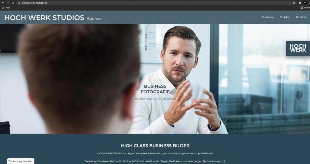 HOCH WERK Business Webseite